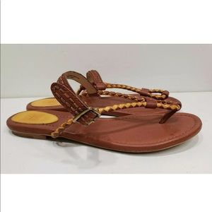Frye Madison Braid Sling Sz 10 M Leather Sandals